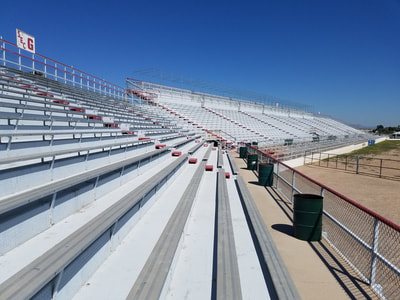 Tucson Rodeo grounds bleacher construction