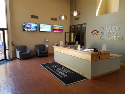 Tucson Metro Chamber of Commerce lobby remodel