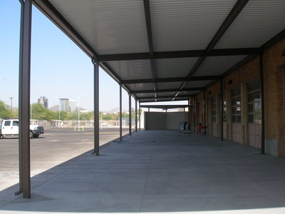 Tucson High School auto shop shade structure